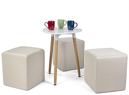 Versatile low modern triangle accent table