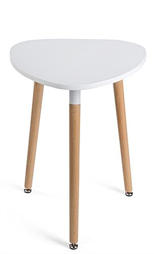 White low modern triangle accent table