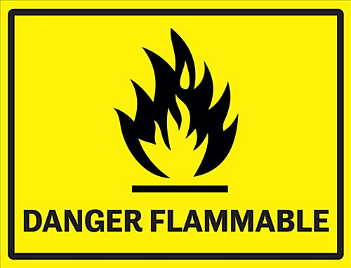 Flammable Industrial Danger Sign 24 X 18 Safety Vinyl