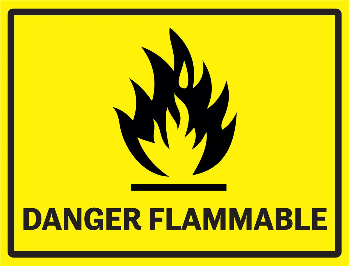 Flammable industrial danger sign 24 x 18 safety vinyl decal buycottarizona