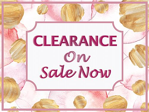 Floral retail clearance floor stickers with textured surface