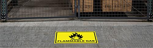 Vinyl flammable gas industrial warning sign with non-slip surface
