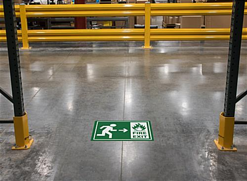 Vinyl non-slip safety fire exit sticker