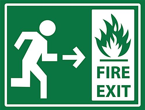 Non Slip Safety Fire Exit Sticker 24 Quot X 18 Quot Wayfinding Decal