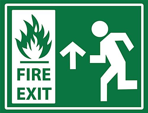 "24"" x 18"" non-slip stick on fire exit safety sign"