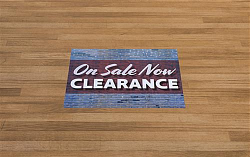 Retail CLEARANCE floor decals in high traffic area
