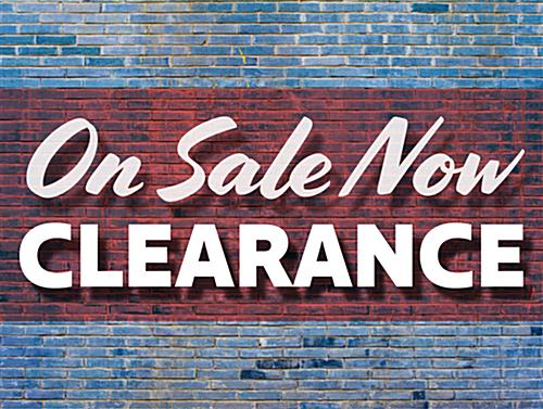 Promote upcoming price reductions with retail CLEARANCE floor decals