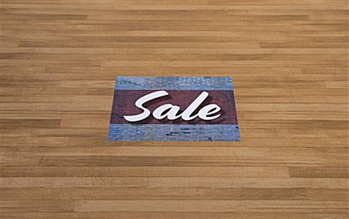 Commercial SALE decals for floor in high traffic area