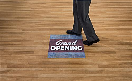 GRAND OPENING in store floor stickers in high traffic area