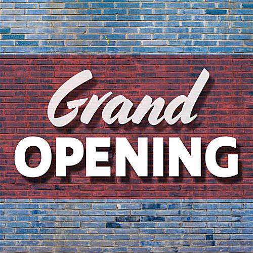 Promote upcoming retail events with GRAND OPENING in store floor stickers