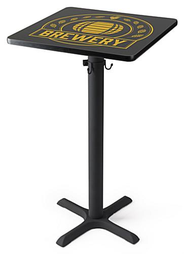 Round digital print-on cocktail table with personalized design