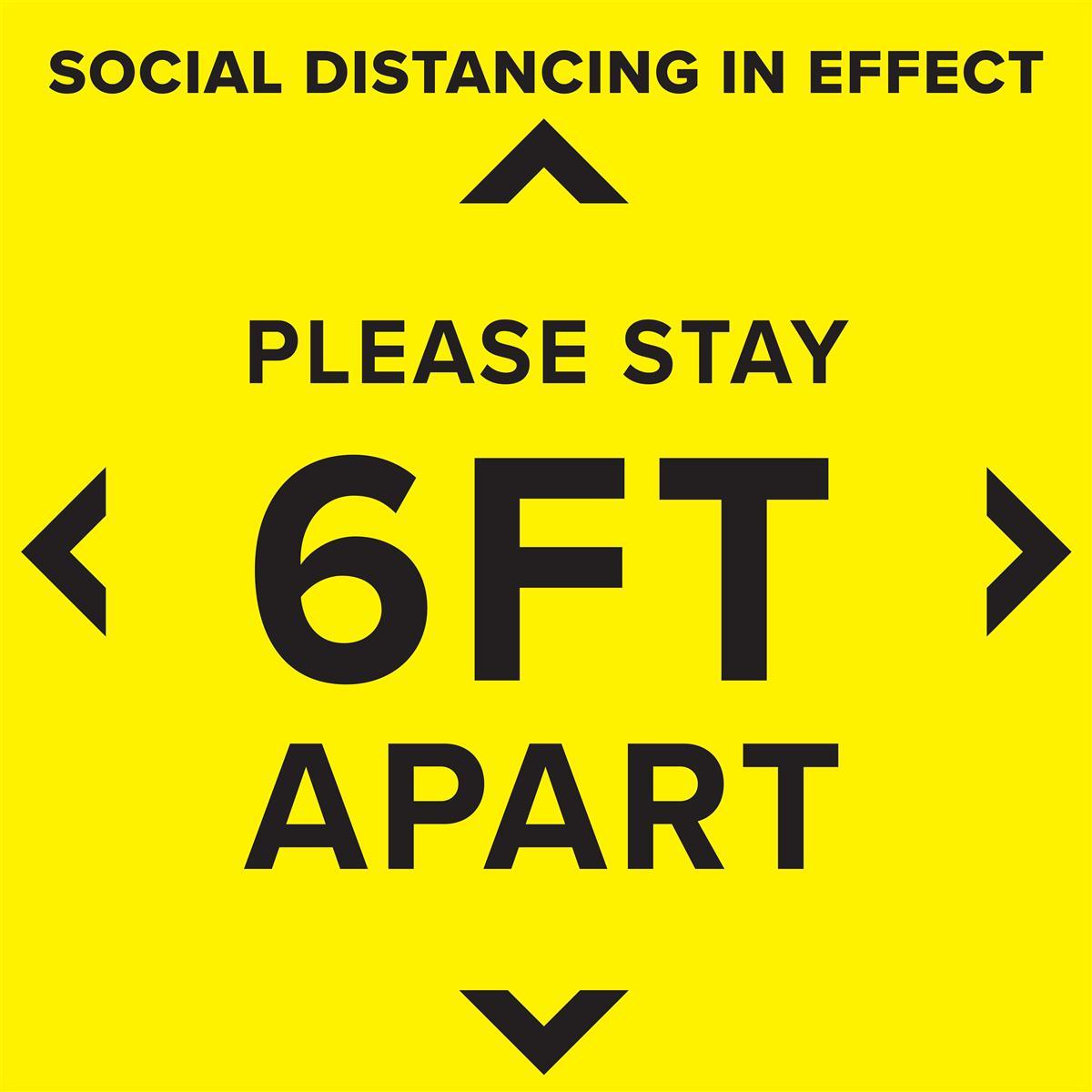 Social Distancing Floor Decal