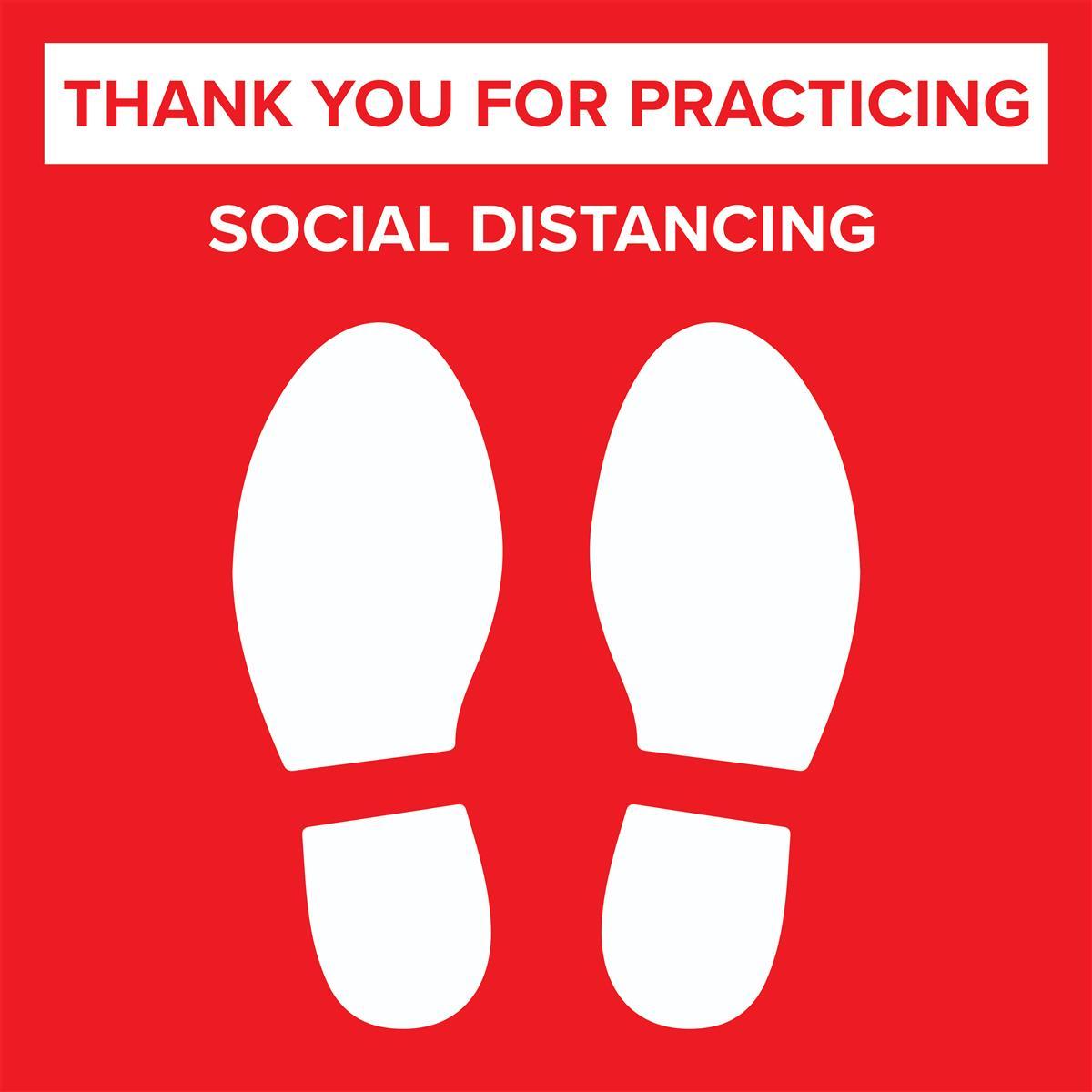 Social Distance Decals Social Distancing Floor Sticker