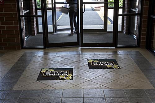 holiday sale floor vinyl sticker for retail environments