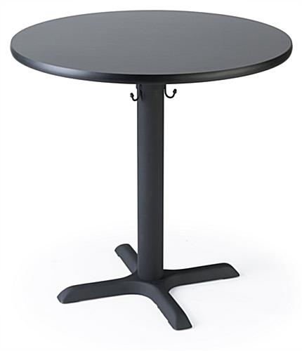 Round restaurant dining table seats four