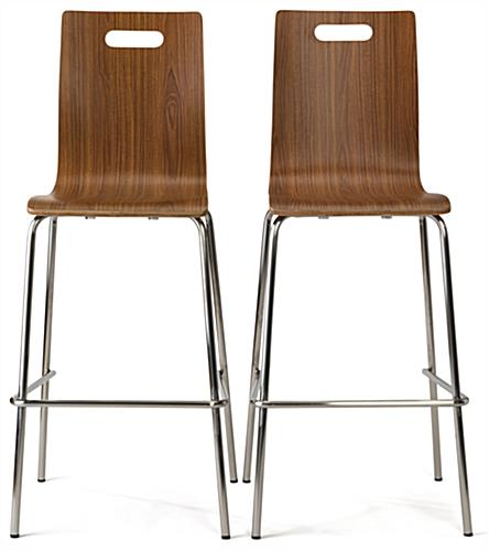 ... Tall Bar Table Lunchroom Set Chairs With Dark Wood Finish ...