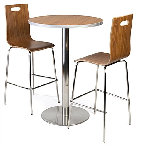 Tall Bar Table Lunchroom Set Complete View ...
