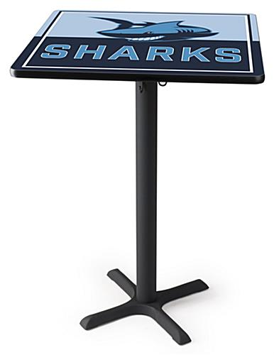 "30"" Printed custom high top tables with full color print"
