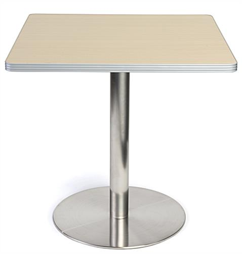 Cafeteria height pub table with square tabletop