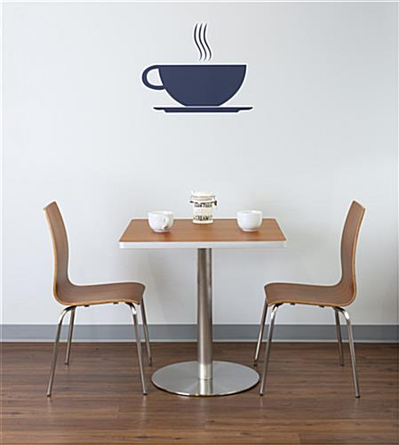Dining height breakroom cafe table with chairs