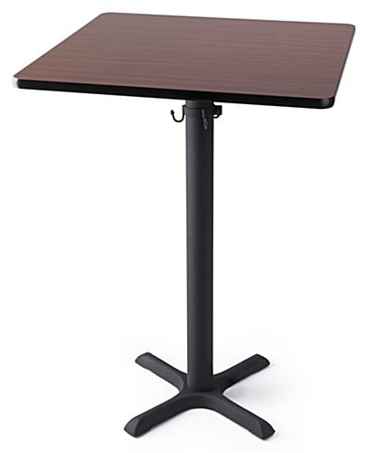 Sit or stand square pedestal bar table