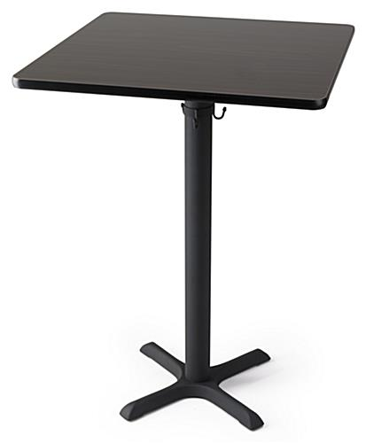 Square high top table in bar height