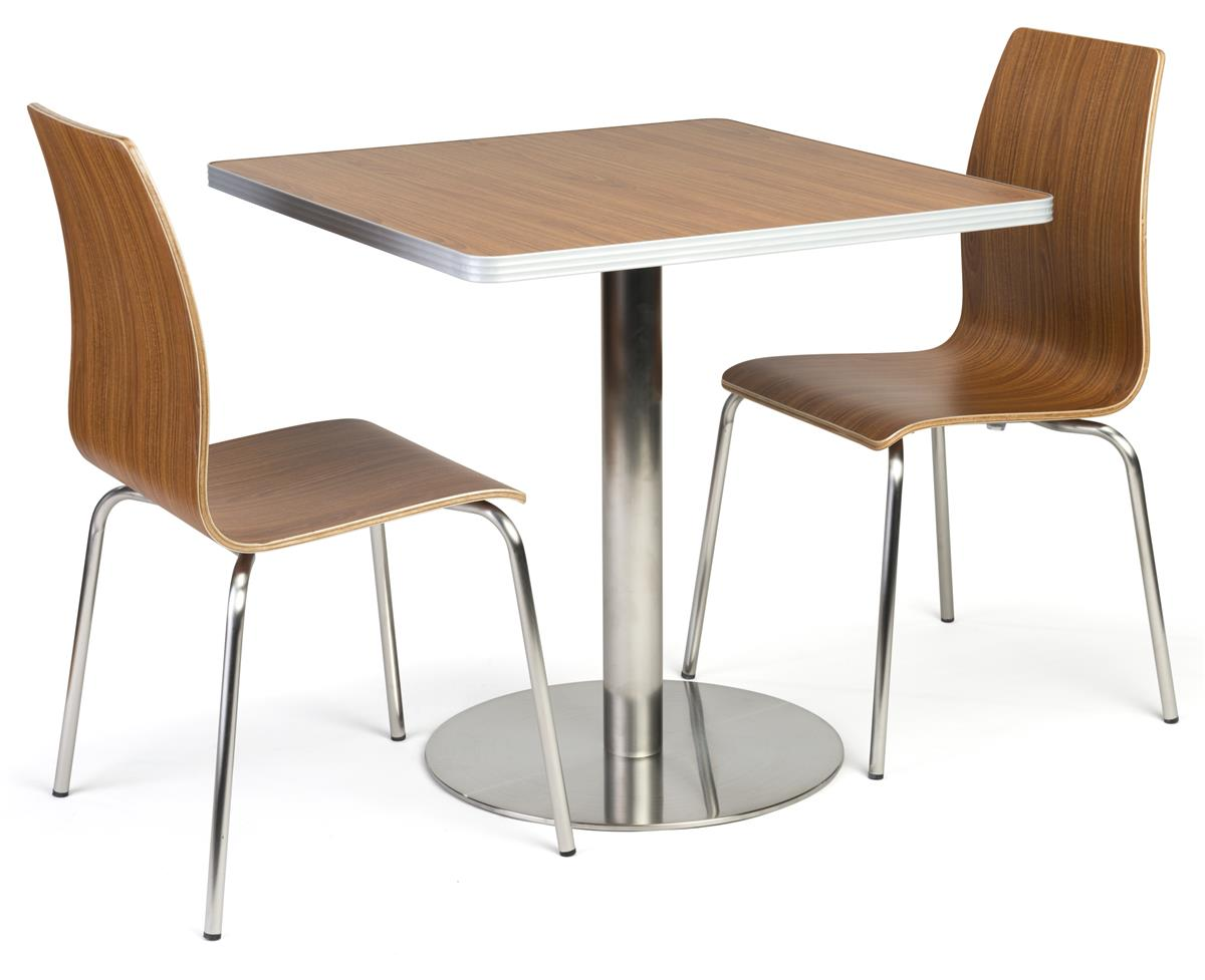 Cafe Height Table Set For Cafeteria 3 Piece Set