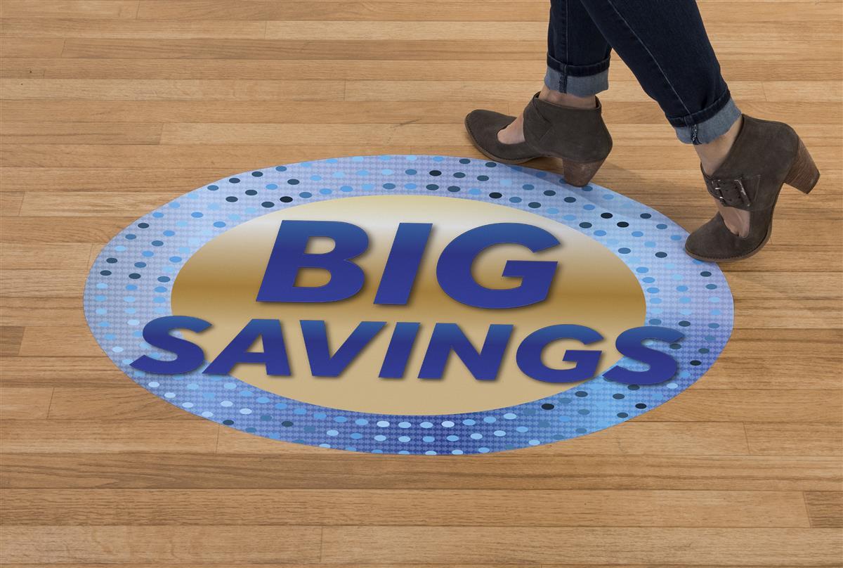 Indoor Outdoor Big Savings Floor Decals 36 X 24