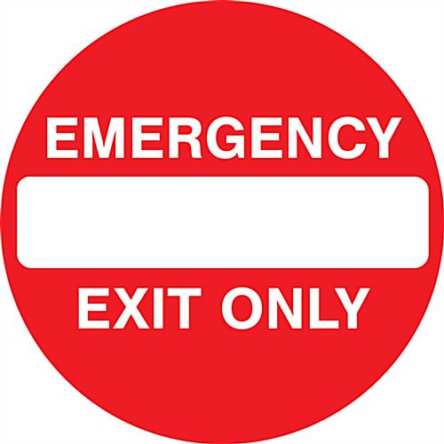 "36"" x 36"" emergency exit anti-slip floor sign"