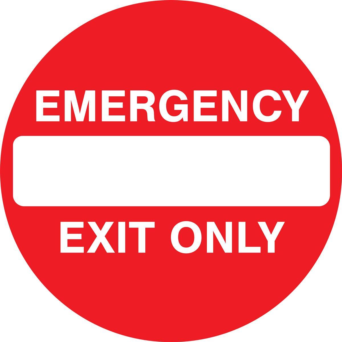 Emergency Exit Anti Slip Floor Sign Pre Printed 36 X 36