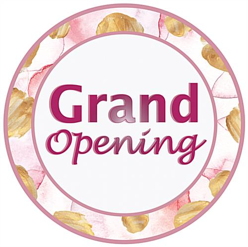 Grand opening floor printed decals for advertising your new business