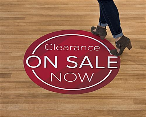 Durable and non-slip ON SALE NOW red walk on floor sticker graphics
