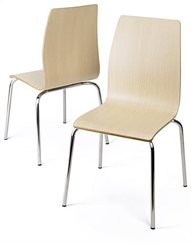 Cafeteria breakroom round dining table set curved seat chairs