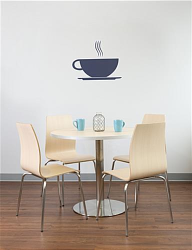 Cafeteria breakroom round dining table set in lunchroom