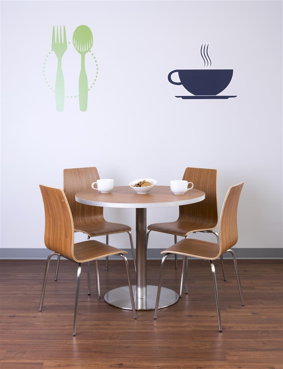 Bistro Style Lunchroom Table And Chairs, Bistro Style Dining Room Sets