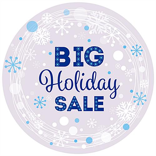 "Pre-printed 36"" x 36"" round ""Holiday Sale"" floor decal"
