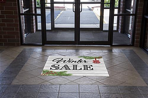 "48"" x 48"" square ""Winter Sale"" floor decal for indoor or outdoor use"