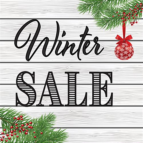 "48"" x 48"" square ""Winter Sale"" floor decal for retail environments"