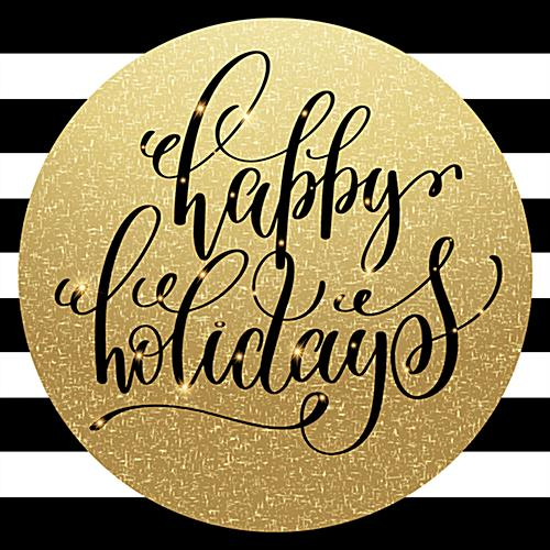 christmas holiday floor decal with festive message