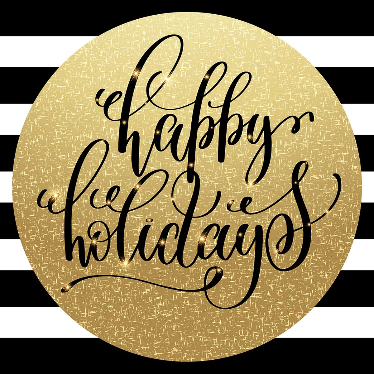Christmas Holiday Floor Decal 48 Quot X 48 Quot Gold Sphere Design