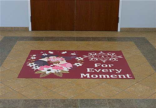 Large Custom Floor Decal Rectangle Stickers Non Slip Surface