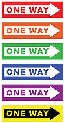 One way arrow floor decal with removable non-skid adhesive backing
