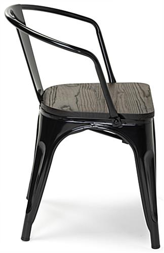 Metal bistro chair set with shiny powder coated finish