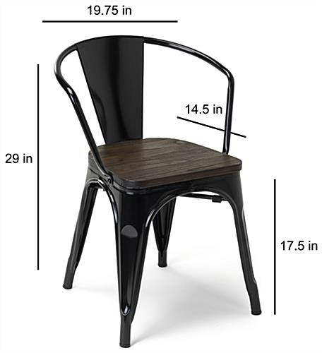 29 inch tall metal bistro chair set with industrial-inspired look