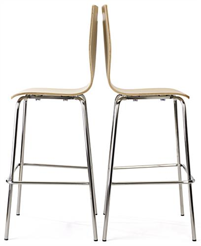 Pub height bentwood chairs with modern design