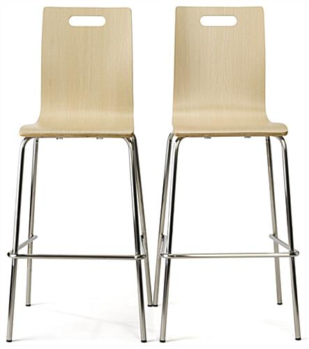 Paired pub height bentwood chairs in set of 2