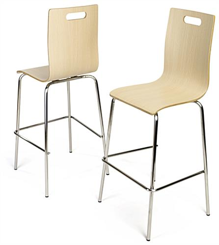 Set of 2 Pub height bentwood chairs