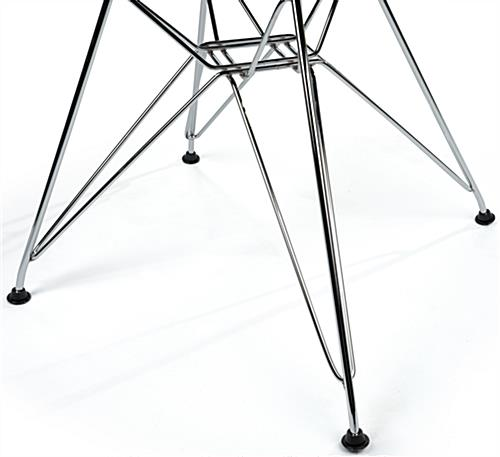 Plastic Eiffel Wire Base Chair with Steel Legs