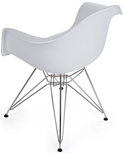 Modern Contemporary Wire Base Eiffel Chair Contemporary Wire Base Eiffel  Chair With Back Rest ...