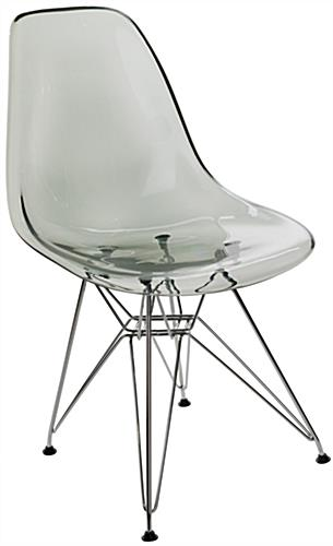 Scooped Plastic Eiffel Contemporary Chair
